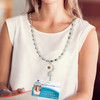 Luve Custom Engraved  Medical Alert Necklace Lanyard, Emergency Medical ID Necklace with 30-Inch Station Bead Chain  - Color