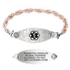 Divoti Custom Engraved Inter-Mesh RG/S Medical Alert Bracelet - Filigree Tag