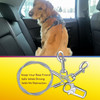 No Chew/Chew Proof  Dog Car Seatbelt Safety Restraint, Dog Tie Out, Puppy Vehicle Seat Belt w/Double Clip & Latch Attachment - Size