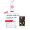 "Classic Superior  Medical Alert Necklace, Emergency Medical ID Necklace, Medical Dog Tag- 24/28"" - Style and Color"
