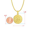 Emergency Medical Technician Gold Charm Necklaces - Style and Size