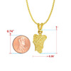 Filigree Butterfly Gold Charm Pendant Necklace - Style and Size