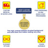 """Ring of Hearts Gold Custom Engraved  Medical Alert Necklace,  Medical Dog Tag- 24/28"""" - Style and Color"""