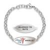 Divoti Custom Engraved Oval Link Medical Alert Bracelet -Beautiful N Slender Tag