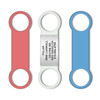 """Slient, Jingle-Free Custom Engraved Slide-On Collar Pet ID Tags for Cat and Dog  (Fits 3/8"""", 3/4"""" and 1"""" Pet Collar) - Combo"""