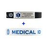 Silicone Sport Custom Engraved Medical Alert ID Bracelet Bands - Combo and Color