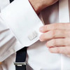 Initial Badge 316L Stainless Steel  CuffLinks  - Letter