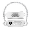 Divoti Custom Engraved Handmade Byzantine Medical Alert Bracelet - Arc Tag