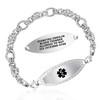 Divoti Custom Engraved Divided Byzantine Medical Alert Bracelet - Diamond Border