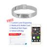 Mesh Medical Alert Bracelets Titanium Medical Bracelet, Medical ID Bracelet Adjustable w/Free Engraving