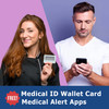 Medical Alert App and wallet card for Trinity with Olive Tag