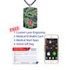Camo Black Medical Alert Necklace, Emergency Medical ID Necklace, Medical Dog Tag w/Free Engraving- 20 Genuine Leather Cord