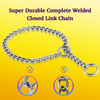 Leash King High Polished Smooth Surgical Stainless Steel Chain Dog Training Choke Collar – Entirely Welded Close Links and Ring