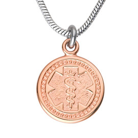 """Premier Tag Custom Engraved Medical Alert Necklace with Stainless steel Chain, Medical ID Necklace, 24/28"""" - Style and Color"""