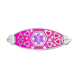 Divoti Custom Engraved Medical Alert Bracelet - Loving Heart Tag