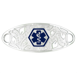 Divoti Custom Engraved  Medical Alert Bracelet -Filigree Tag