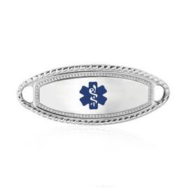 Divoti Custom Engraved  Medical Alert Bracelet -Premier Tag