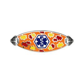 Divoti Custom Engraved  Medical Alert Bracelet -Serene Maple Tag