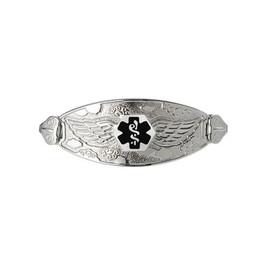 Divoti Custom Engraved  Medical Alert Bracelet -Angel Wing Tag