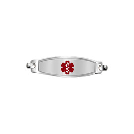 Divoti Custom Engraved  Medical Alert Bracelet - Elegant Contempo Tag