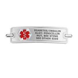 Divoti Custom Engraved  Medical Alert Bracelet - Rect Classic Tag