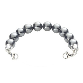 Magnetic Hematite Bead Chain for Interchangeable Medical Alert ID Bracelet - Size