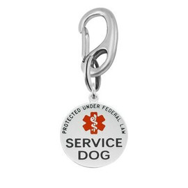 Double Sided Service Dog Tag - 1.25-inch Stainless Steel Hard Enamel