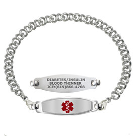 Divoti Custom Engraved Knot Link Medical Alert Bracelet - Elegant Contempo Tag