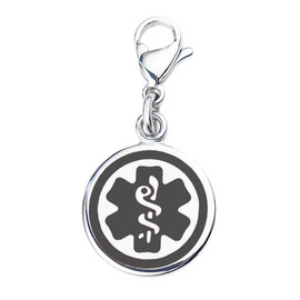 "Mix N Match 3/8"" (10mm) 316L Double-Sided  Medical Alert Charm - Color"