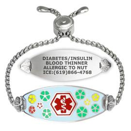 Divoti Custom Engraved Easy-On Medical Alert Bracelet - Color Palette Tag