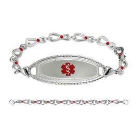 Divoti Custom Engraved Infinity Siam Medical Alert Bracelet - Premier Tag