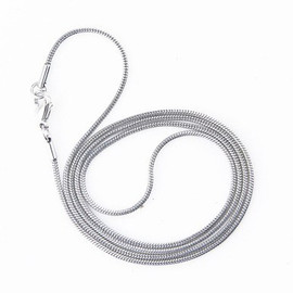 1.5-MM Snake 24/28-Inch Chain Necklace for Medical Alert ID Necklace - Various Lengths