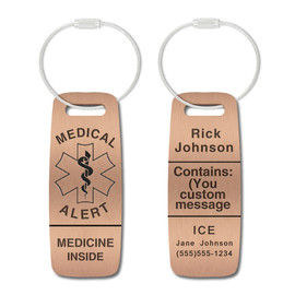 Medical Alert Tags for Luggages and Bags - Style