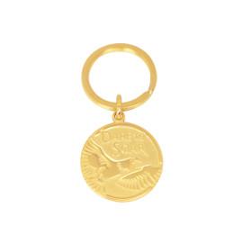 Flying Eagle Custom Engraved Gold Keychain/Key Holder