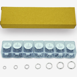Surgical Stainless Steel Open Jump Rings 4, 5, 6, 7, 8, 9, 10-mm Finding Box Set