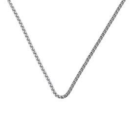 2.5mm Square Rolo Necklace Chain for Medical Alert ID Neclaces, Size