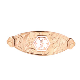 Lovely Filigree Custom Engraved  Medical ID Tag for Medical Alert ID Bracelets, Vertically Connect -Style and Colors