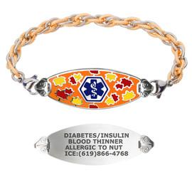 Divoti Custom Engraved Inter-Mesh G/S Medical Alert Bracelet - Serene Maple Tag