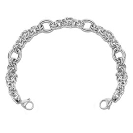 Divoti Divided Byzantine Stainless Steel Interchangeable Medical Alert Replacement Bracelet for Women