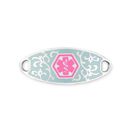Jardin Custom Engraved Medical ID Tag for Medical ID Bracelet - Vertically Connect