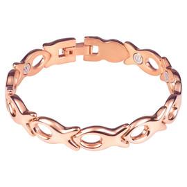 Divoti Garden Flower PVD Rose Gold 316L Magnetic Bracelet for Women