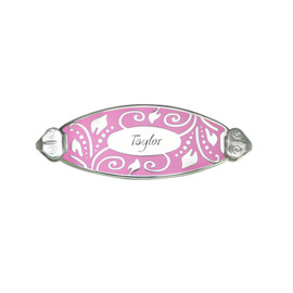 Lovely Filigree Personalized  Bracelet Tag- with Free Engraving-Horizontally Connect