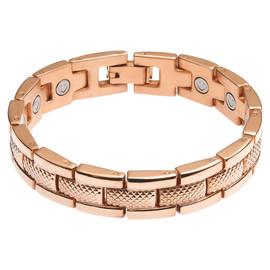 Divoti Rugged Link PVD Black 316L Magnetic Bracelet for Men