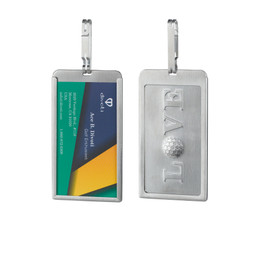 Divoti LOVE GOLF Stainless Steel Business Card Holder/Golf Bag Tag