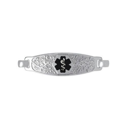 Divoti Custom Engraved  Medical Alert Bracelet -Olive Tag
