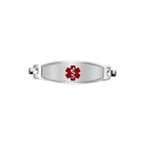 Divoti Custom Engraved  Medical Alert Bracelet - Elegant Contempo Tag