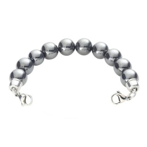Magnetic Hematite Bead Chain for Interchangeable Medical Alert ID Bracelet - Size