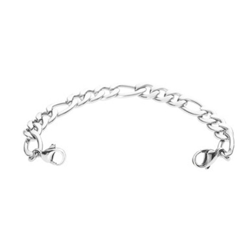 Figaro Chain for Interchangeable Medical Alert ID Bracelet - Size