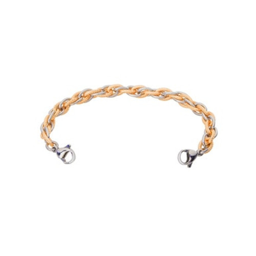 Inter-Mesh Gold/Silver Chain for Interchangeable Medical Alert ID Bracelet - Size