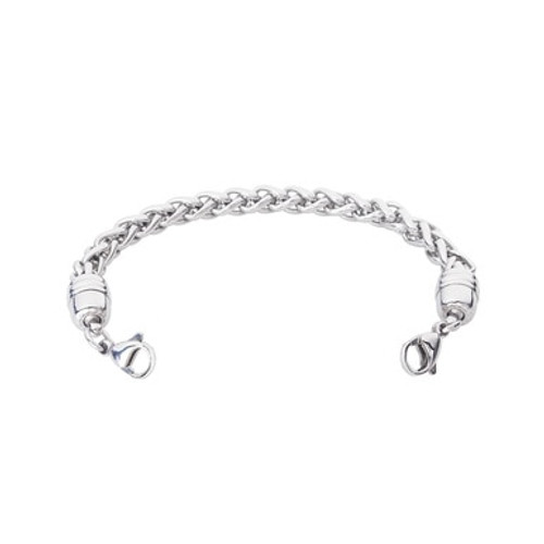 Wheat Stainless Chain for Interchangeable Medical Alert ID Bracelet - Size